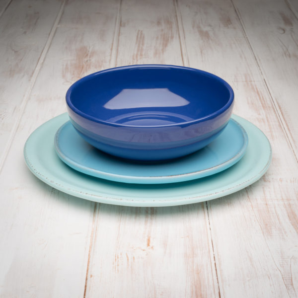 Handmade Tuscan Dinnerware Set-Blue & Handmade Tuscan Dinnerware Set-Blue | Tuscan Italian Decor