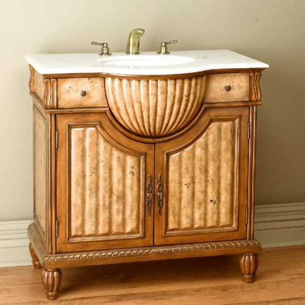36 Single Ornate Bathroom Vanity Set